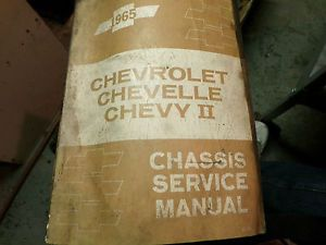 1965 Chevrolet Chevelle Chevy 11 Chassis Service Manual