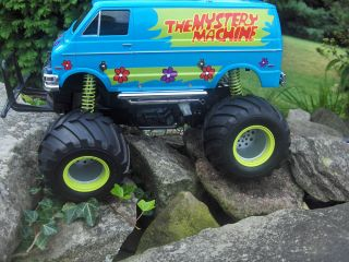 Tamiya Radio Control Monster Truck Custom Scooby Doo Mystery Machine Van Dodge