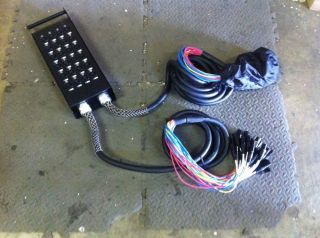 Pro Audio PA DJ 24 Channel Send XLR Splitter Snake Cable 10384