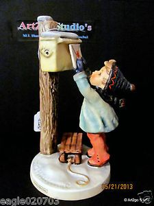"1970s Large 7"" MI Hummel "" Letter to Santa Claus"" 340 Figurine Label Signed"