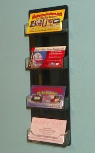 4 pocket horizontal wall mount business card holder clear black 4 pocket horizontal wall mount business card holder clear black hanging rack colourmoves