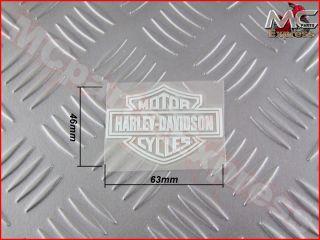 Harley Davidson Chrome Decal Badge Emblem Sticker