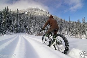 """Snow Sand Fat Tire Cruiser Bicycle 4 1 4"""" Knobby Tires 4 Times The Air Tire"""
