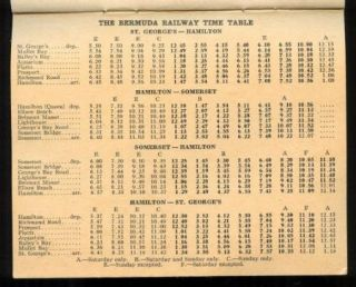 1943 WWII Bermuda Base Command Army Soldier's Guide Booklet Map Train Time Table
