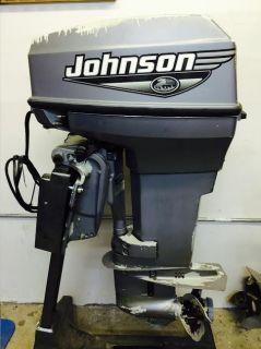 2000 Johnson 50 HP 2 Stroke Outboard Motor Boat Engine Water Ready 60 75 90 40