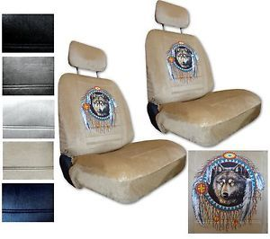Seat Covers Car Truck SUV Native Wolf Dreamcatcher Low Back PP 3