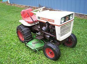 Bolens 1050 Garden Tractor with Deck Snow Blower Rototiller Tire Chains