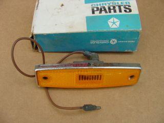 1970 1971 Dodge Fargo Truck Amber Side Marker Lamp Chrome Mopar Chryco
