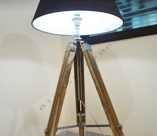 Designer Royal Nautical Tripod Floor Lamp Wooden Tripod Lamp Stand Modern