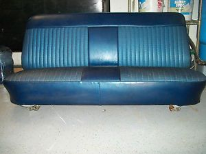 Ford Pickup Truck F100 F150 F250 F350 Blue Bench Seat with All Metal