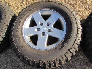 "5 Jeep Wrangler 07 14 Rubicon Sahara Unlimited 17"" Wheels BFG Mud Terrain Tires"