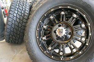 """20"""" XD795 Hoss Gloss Black Wheels Rims 275 60R20 Nitto Terra Grappler at Tires"""