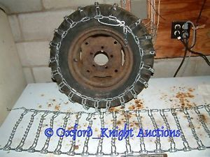 New Pair of 23x9 50 10 50 12 Snow Blower Snow Plow Garden Tractor Tire Chains