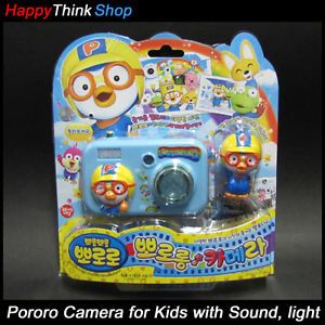 Pororo Pretend Play Camera Kids Pictures Sound Lighting