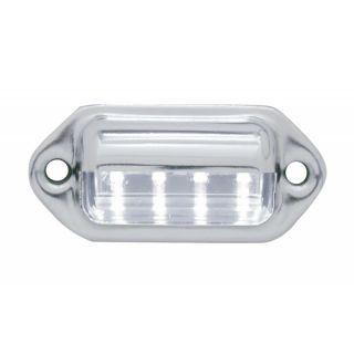 License Plate Light Clear LED Hot Rat Rod Custom Street Lowrider VW Vtg Style