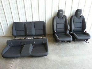 2010 2013 Camaro SS Coupe Seats Set Black Cloth Front Rear Air Bags