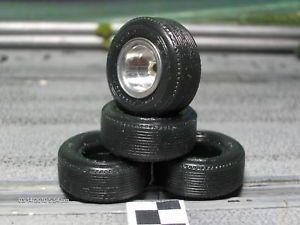 1 32 Urethane Slot Car Tires 2pr Fit Vintage Revell Monogram LG Rears 22x9