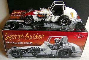 George Snider MVS Inc Vintage Dirt Champ Car USAC GMP 1 18 Ford Firestone Tires
