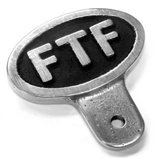 FTF License Plate Topper Badge Hot Rod Rat Custom Bike Motorcycle Bobber Cafe