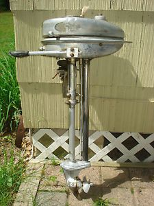 1938 Evinrude Ranger Elto Outboard Boat Motor with Manual Engine Free Pulls