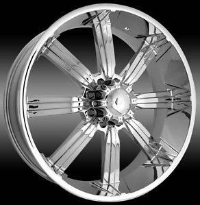 "30"" Dcenti 903 Chrome 8 Lug Wheels Rims Hummer H2 Chevy 2500 Ford 26 28 22 24"