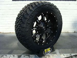 "20"" Fuel Off Road Krank Black Nitto Trail Grappler 35x12 50R20 35"" Mud Tires"