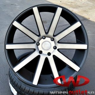 "28"" Dub Shot Caller Black DDT Wheels Tires Escalade Chevy GMC Ford Q56 Armada"