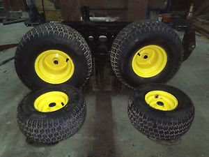 John Deere Lawn Tractor Tires 2 15x6 00 6N HS 2 20x10 00 8N HS