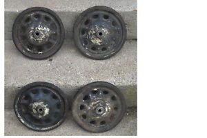 Set of 4 Vintage Pedal Car Artillery Wheels with Tires to Restore Garton Maybe