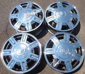 "16"" 2003 04 05 Cadillac DeVille OE Chrome Rims Wheels 09594386"