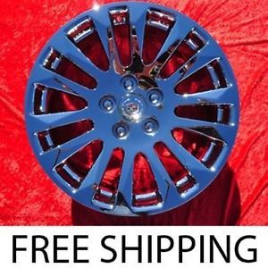 """Exchange Set of 4 New Chrome 18"""" Cadillac cts Factory Wheels Rims 4669"""