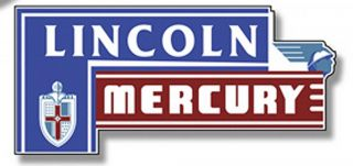 "34"" Lincoln Mercury Tin Metal Sign Vtg Style Garage Old School Hot Rod Street"