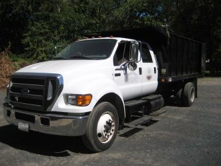2004 Ford F 650 4x2 XLT SD Superduty Truck Cat C7 Diesel Engine Crew Cab Allison