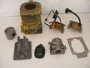 Vintage McCulloch Racing Go Kart Parts Lot MC6 Block Carb Coils