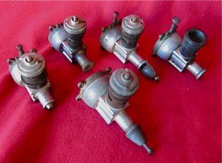 Vintage Cox Thimble Drome 049 Model Airplane Engines   Various 5 Each