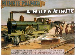1891 British Locomotive Steam Railway Train Engine Heater Show Poster Print 786