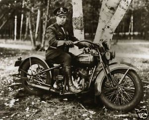 Old Harley Davidson Police Motorcycle 1930 Goggles Leather Boots Marquette MI
