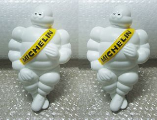 2 Michelin Mans Bibendum Mascot Doll Vintage Truck Car Home Tire Model Figure 8""
