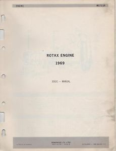 1969 Bombardier Ski Doo Rotax Engine Parts Manual 335cc