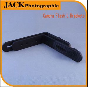 Universal Black Metal Adjustable Multi Angle Camera Flash Brackets L Brackets