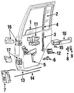 Door Latch Lock Striker Dodge RAM Caravan Grand Cherokee Wrangler Voyager