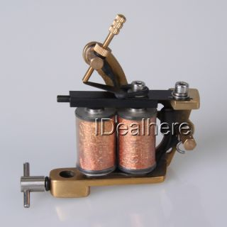 Tattoo Machine Copper Frame 10 Wrap Coils Lining Shade