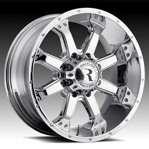 20 inch Chrome Raceline Assault 991 Wheels Rims Dodge RAM 8 Lug 8x6 5 20x9 12