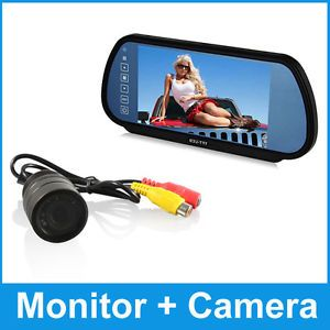 """7"""" TFT LCD Monitor Mirror Security Car Rear View Reverse Screen Remote Camera"""