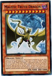 Malefic Truth Dragon Yugioh Card Collectors Tin Promo Super RARE CT09 EN016
