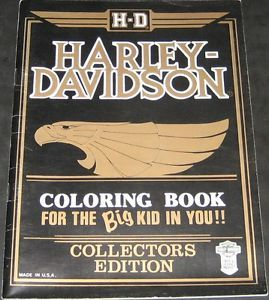 Harley Davidson Coloring Book Collectors Edition 1988