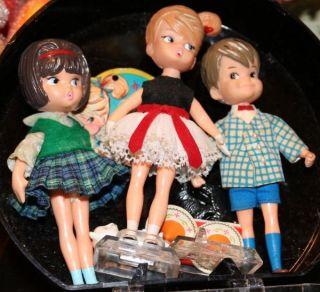 RARE Vintage Dolly Darling John and His Pets Hat Box Series Doll Case Tag