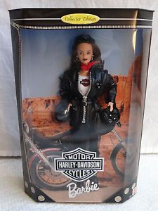 Barbie Doll 3 Collector Edition Harley Davidson Motorcycle Leather Biker