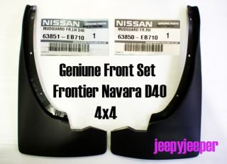 Genuine Front Set 4x4 4WD Mud Flap Guard Nissan Frontier Navara D40 2004 2012