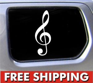 Treble Clef Symbol Decal Car Window Vinyl Sticker Music